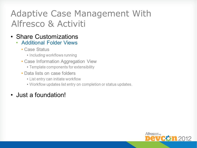 Adaptive Case Management With Alfresco & Activiti