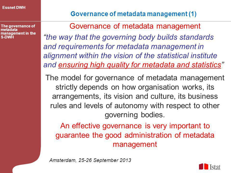 Governance of metadata management (1)