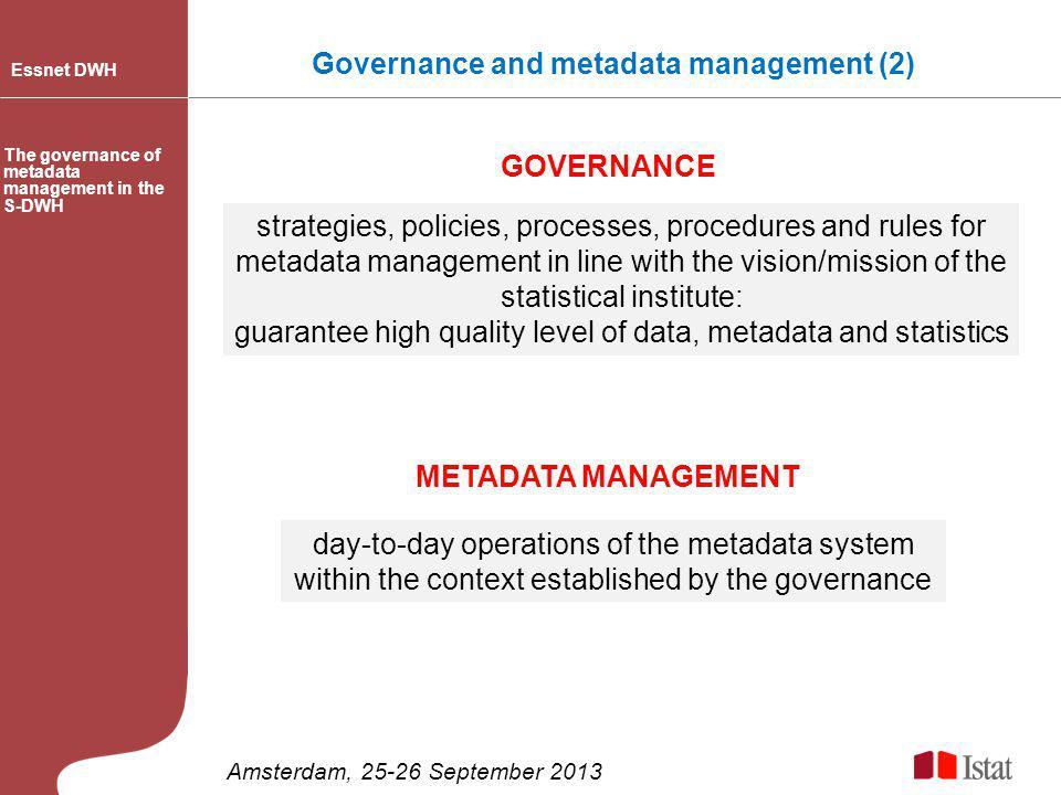 Governance and metadata management (2)