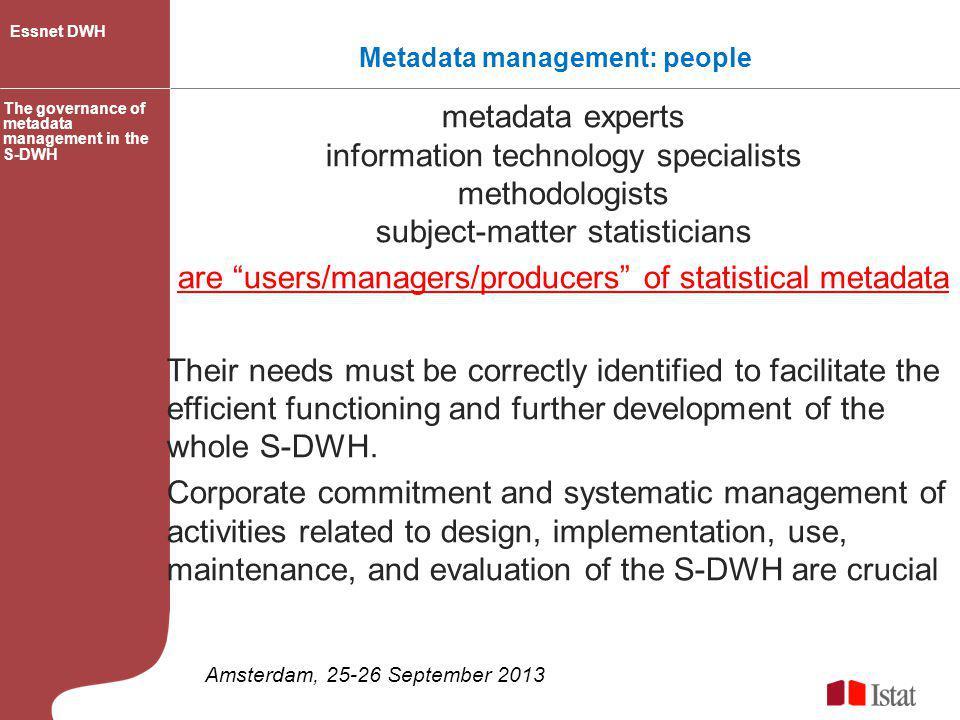 Metadata management: people