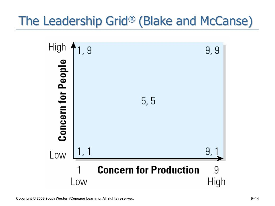 The Leadership Grid® (Blake and McCanse)