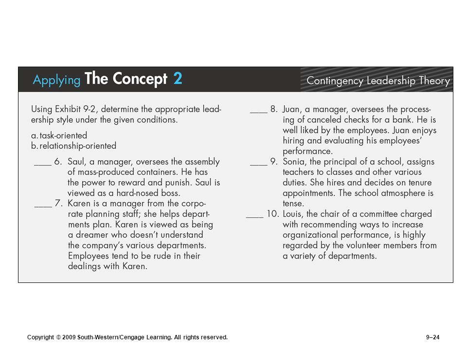 Copyright © 2009 South-Western/Cengage Learning. All rights reserved.