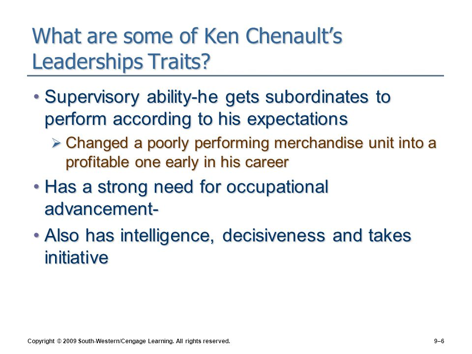 What are some of Ken Chenault's Leaderships Traits