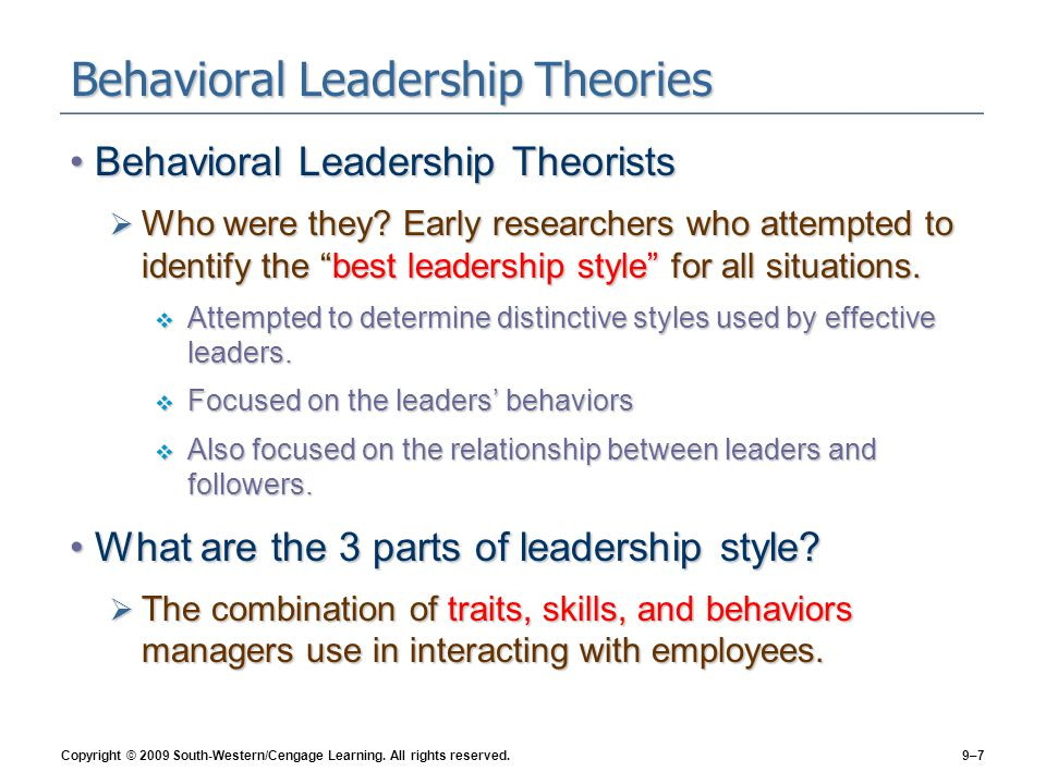 leadership traits behaviors and styles case1 New emerging leadership theories and styles abdollah sajjadi faculty member of islamic azad university, science and research branch of tehran leadership theories imply that they are cognitive structures containing the traits and behaviors of leaders (kenney.