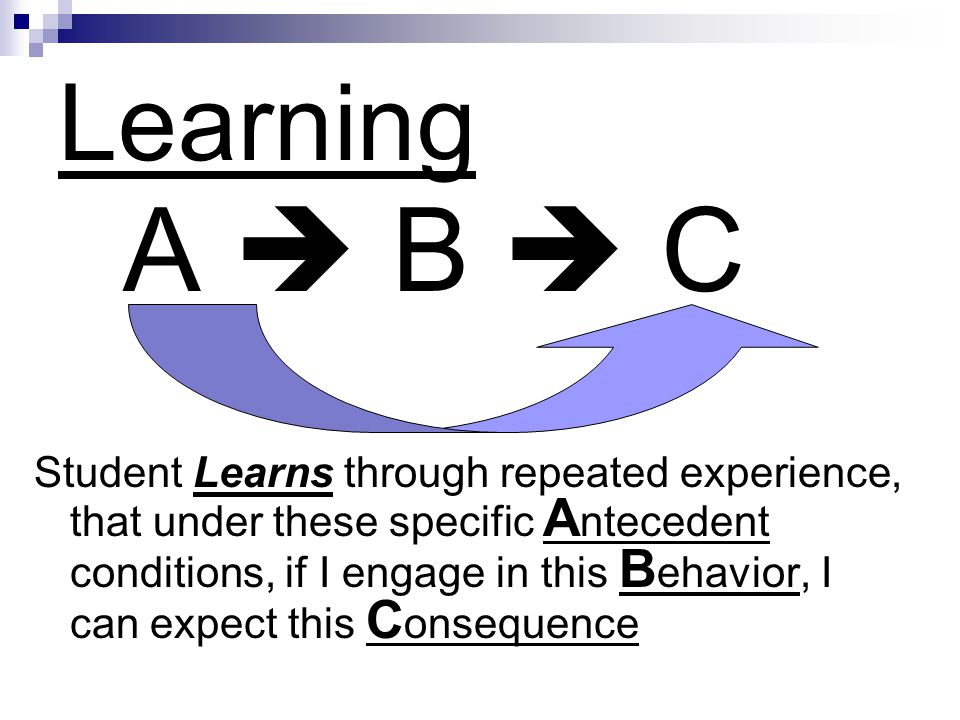 Learning A  B  C.