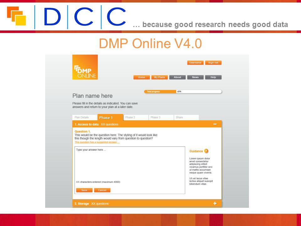 DMP Online V4.0
