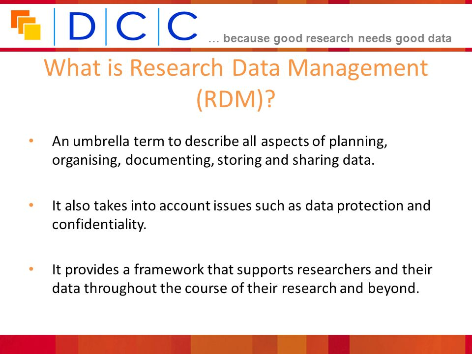 What is Research Data Management (RDM)