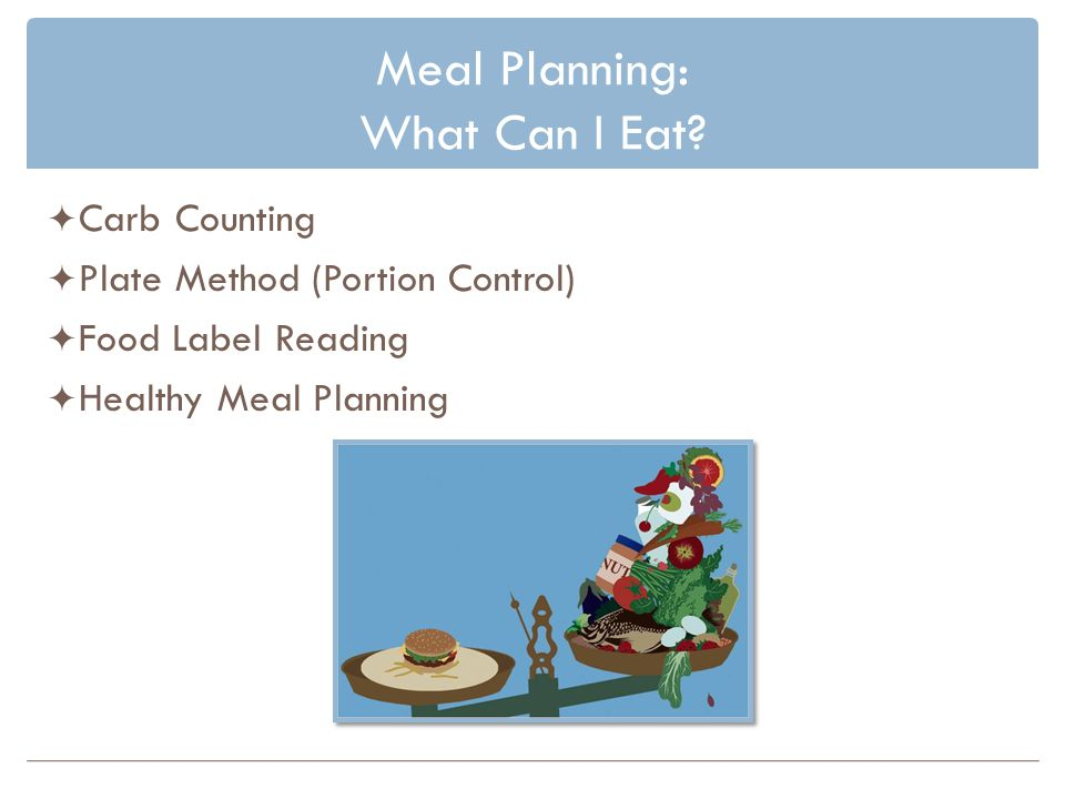 Meal Planning: What Can I Eat
