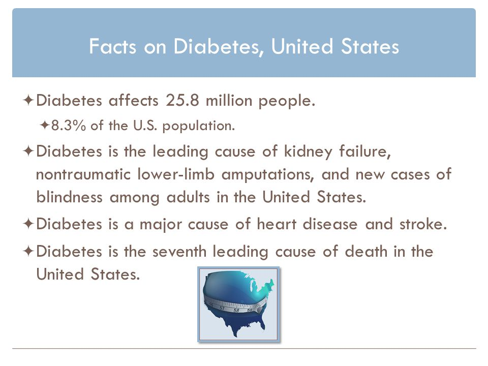 Facts on Diabetes, United States