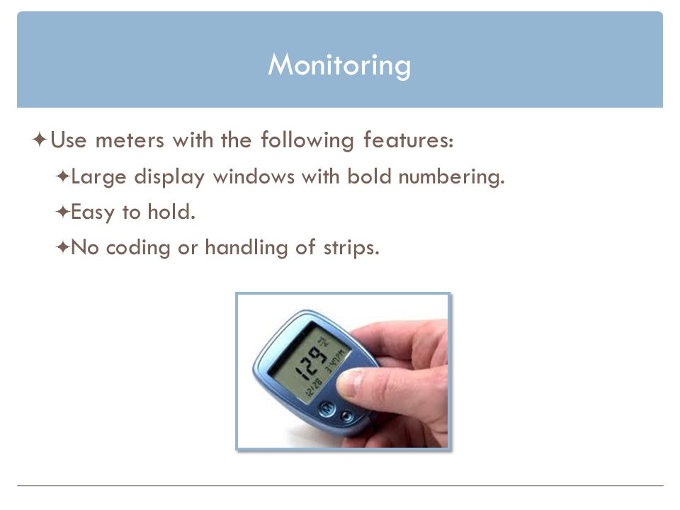 Monitoring Use meters with the following features: