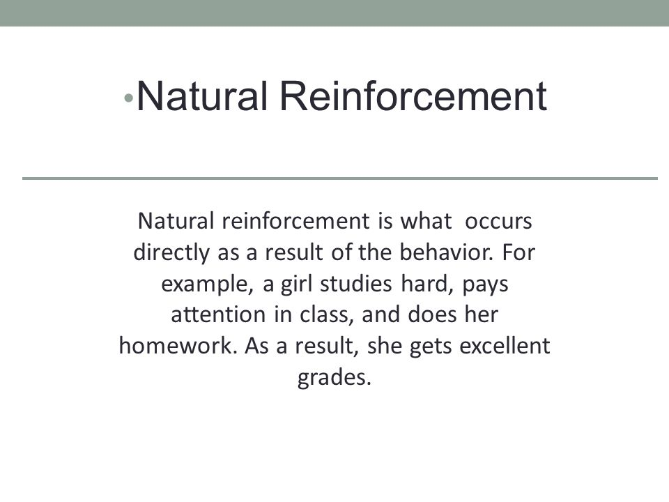 Natural Reinforcement