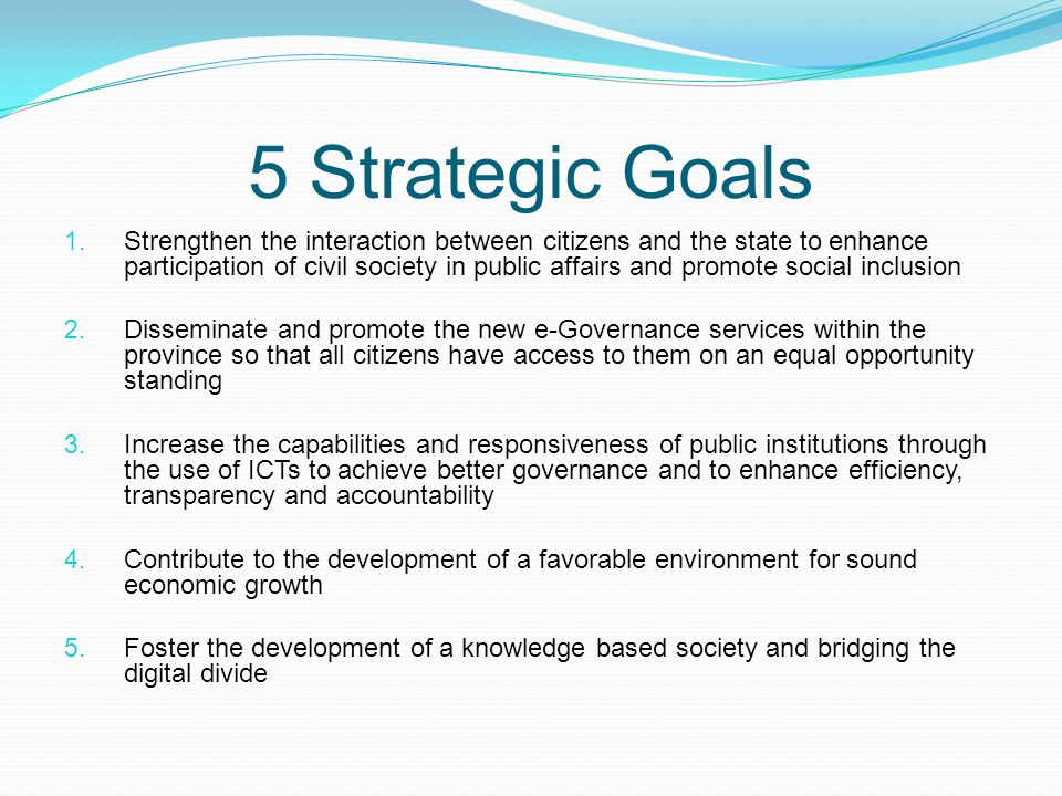 5 Strategic Goals