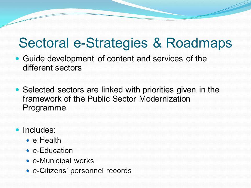 Sectoral e-Strategies & Roadmaps