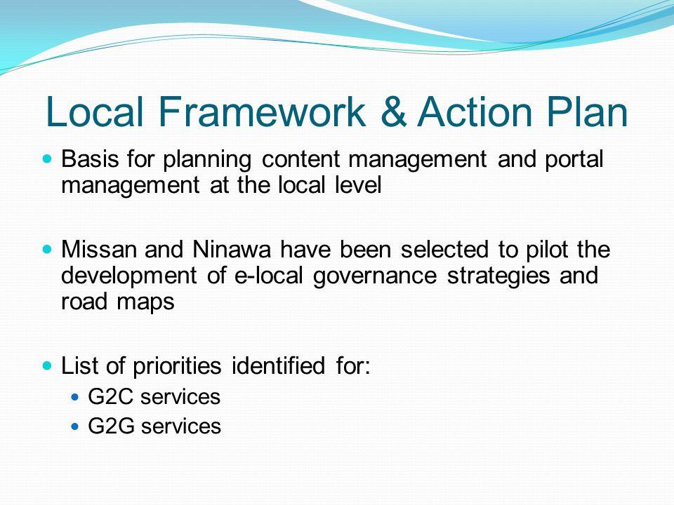 Local Framework & Action Plan