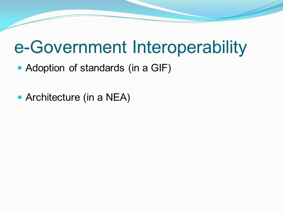 e-Government Interoperability