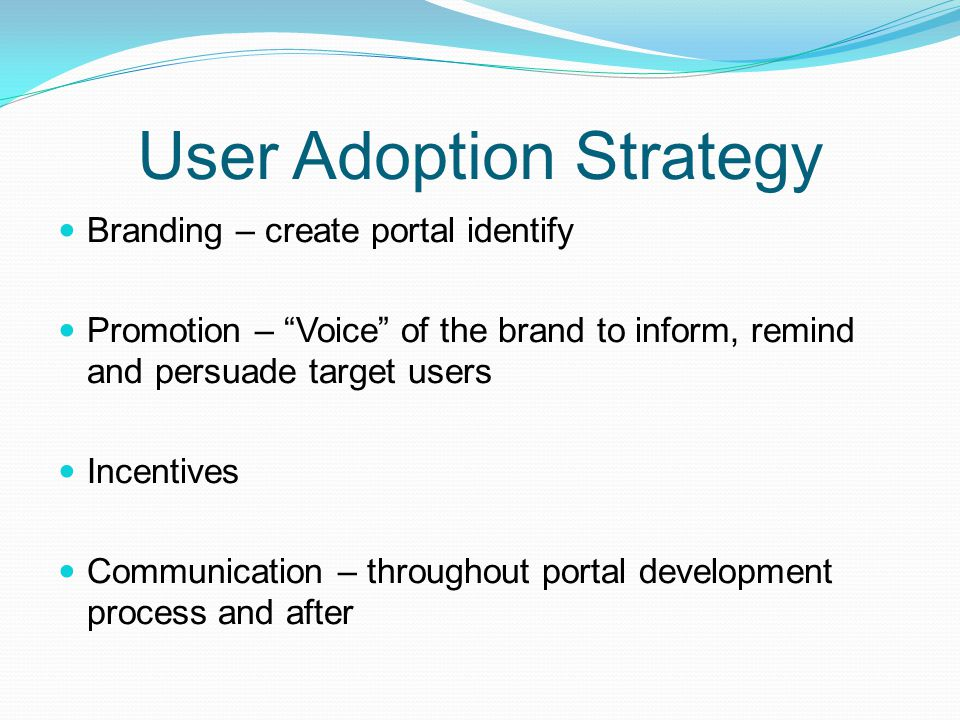 User Adoption Strategy