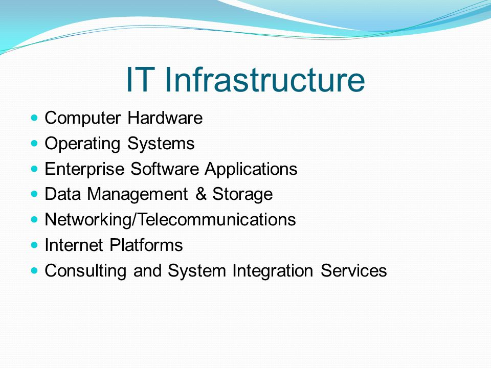 IT Infrastructure Computer Hardware Operating Systems