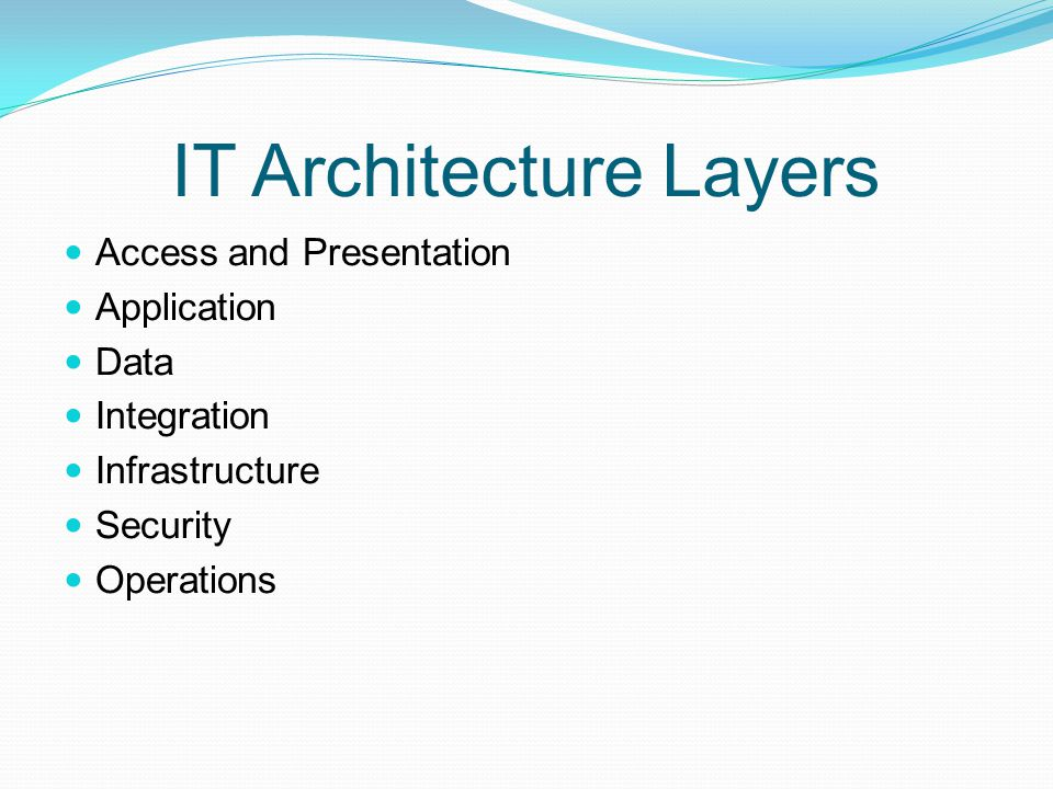IT Architecture Layers