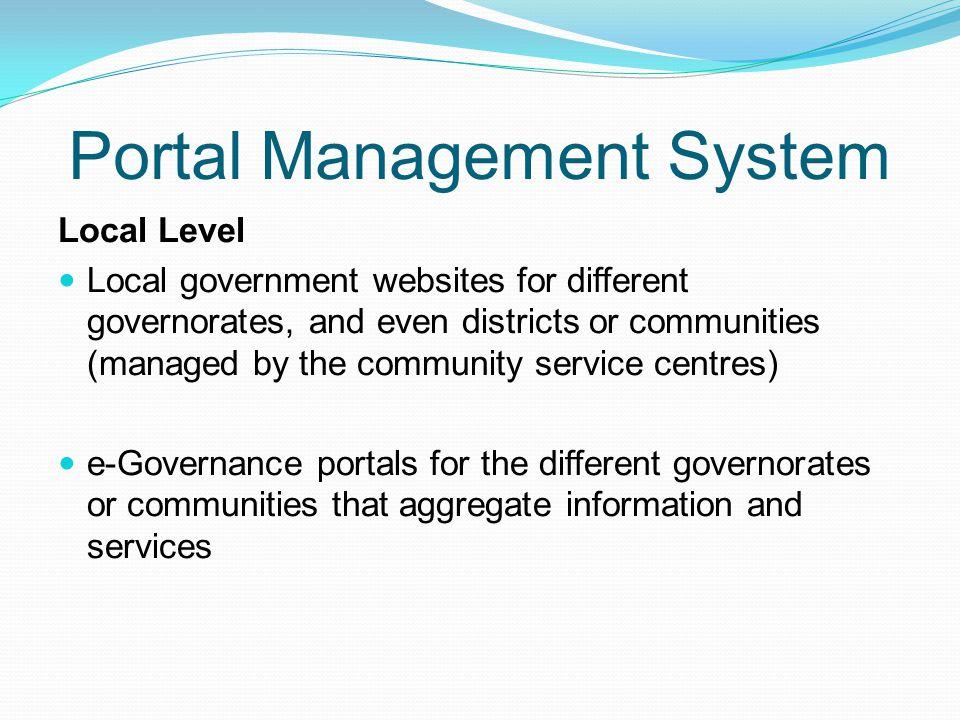 Portal Management System