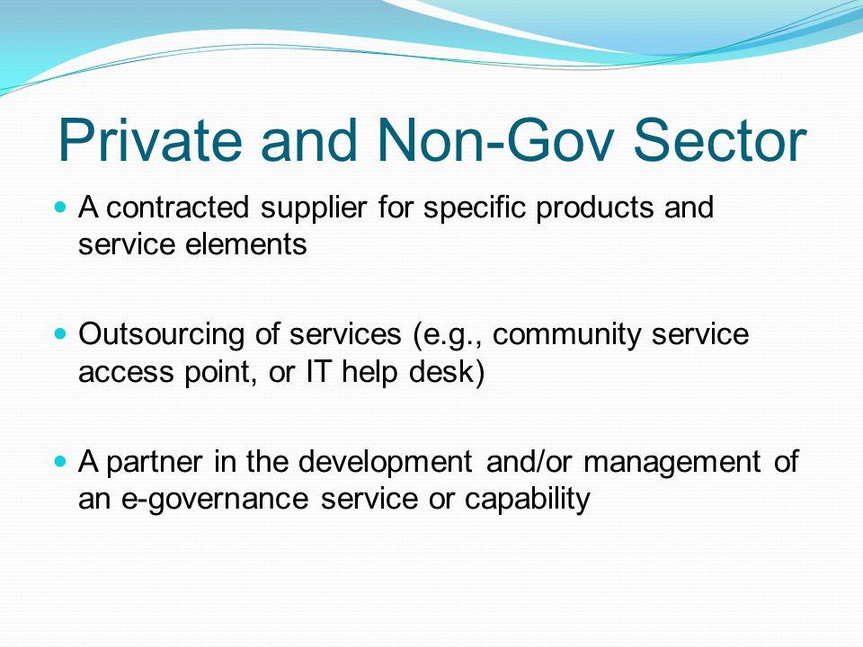 Private and Non-Gov Sector