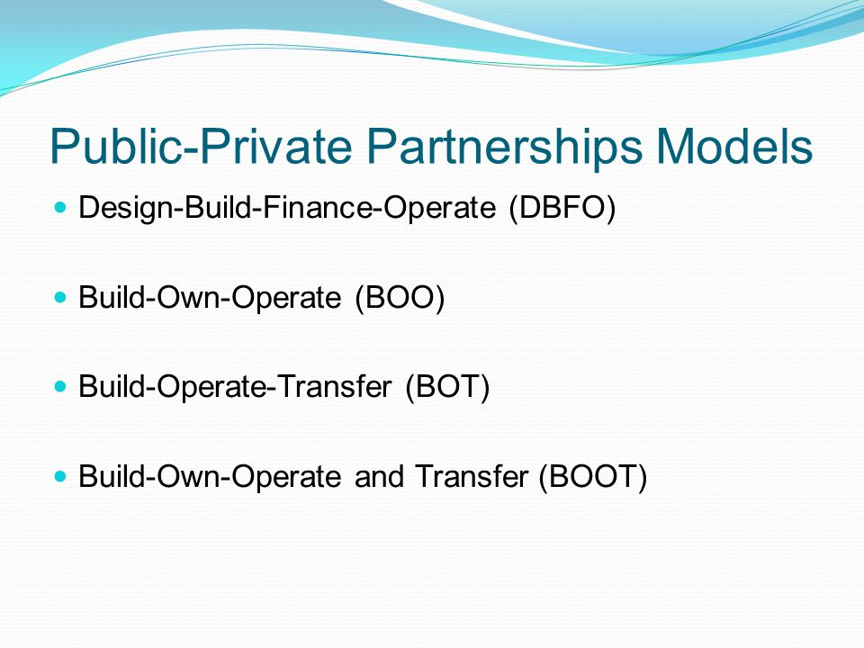 Public-Private Partnerships Models
