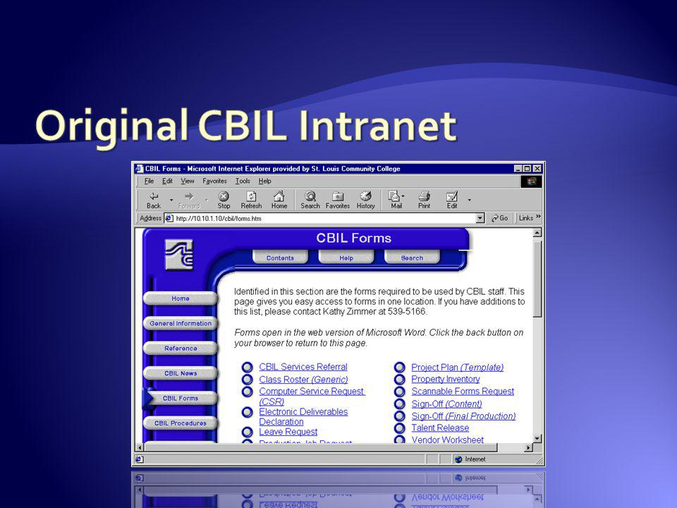 Original CBIL Intranet