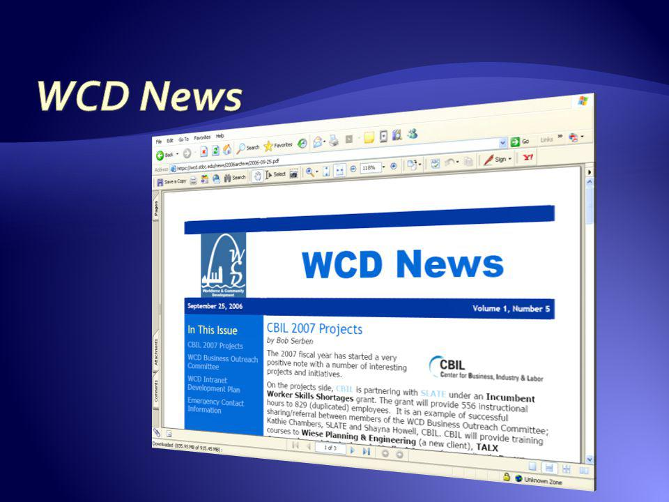 WCD News