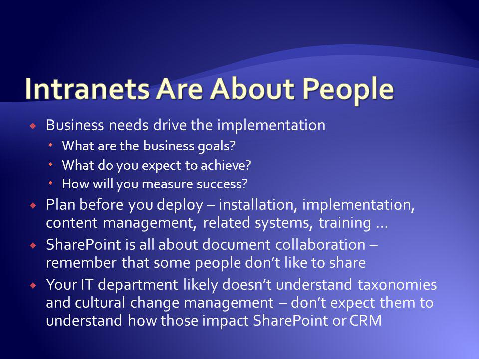 Intranets Are About People