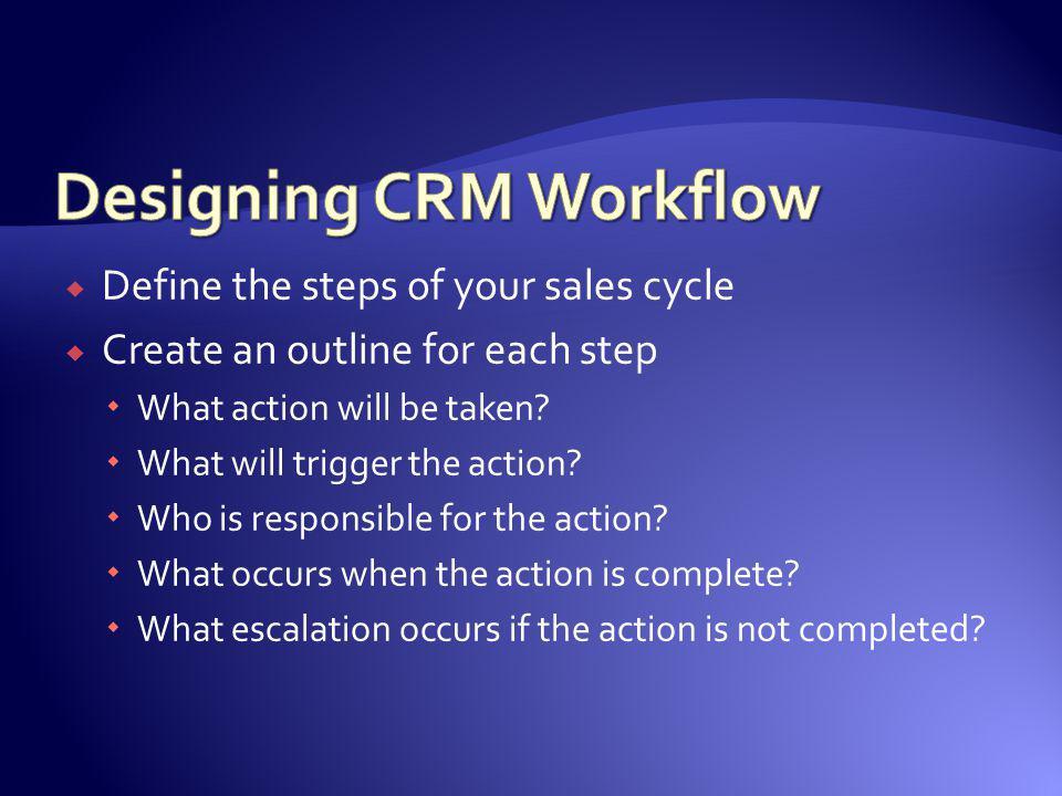 Designing CRM Workflow