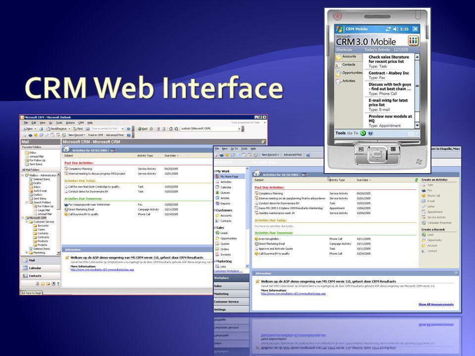 CRM Web Interface