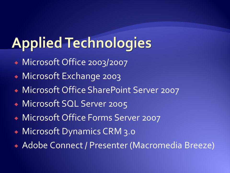 Applied Technologies Microsoft Office 2003/2007