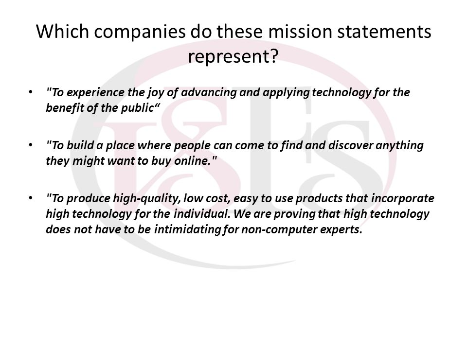 Which companies do these mission statements represent