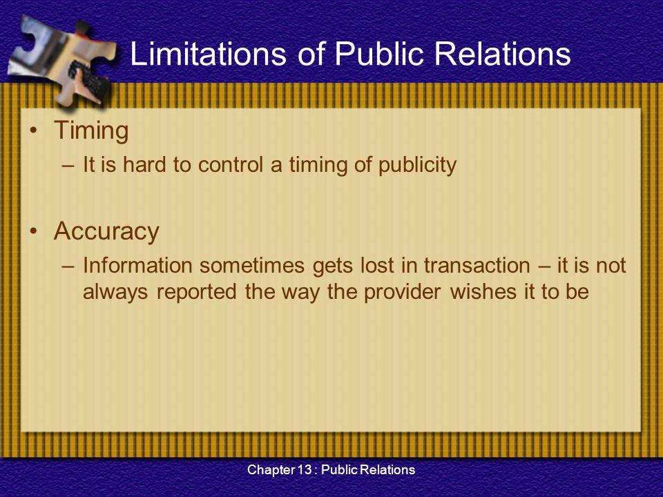 Limitations of Public Relations
