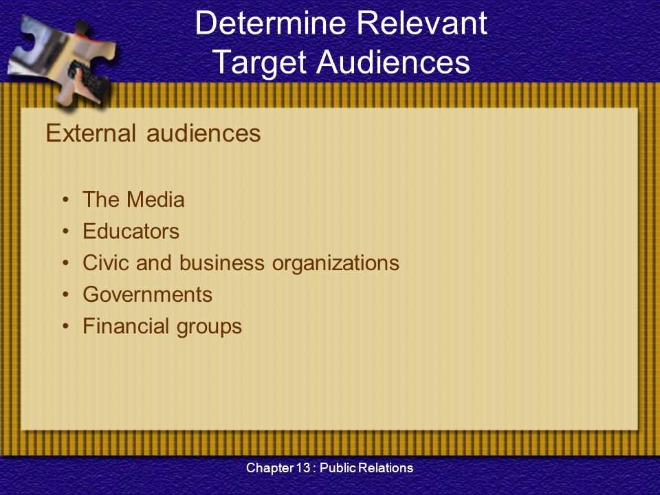 Determine Relevant Target Audiences