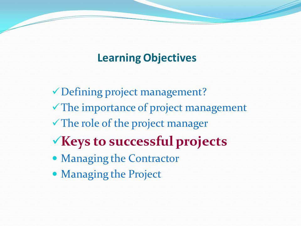 Keys to successful projects