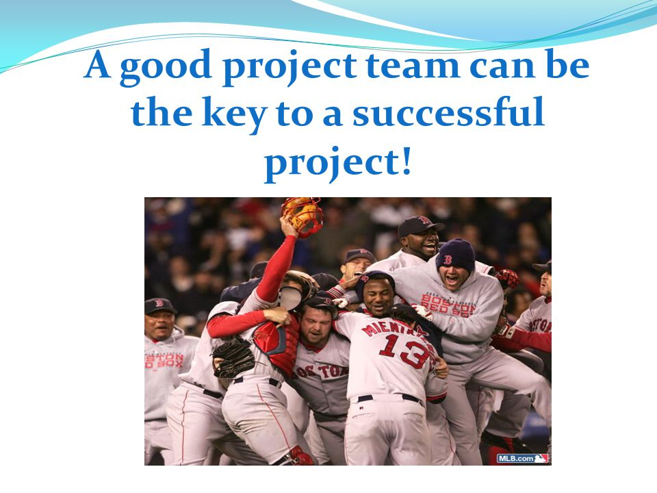 A good project team can be the key to a successful project!