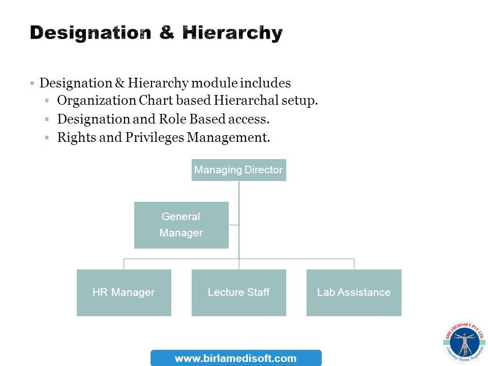 Designation & Hierarchy