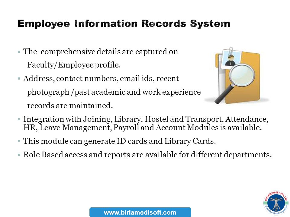 Employee Information Records System