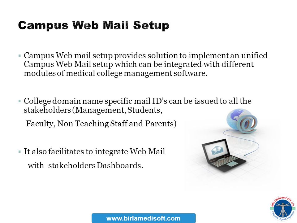 Campus Web Mail Setup