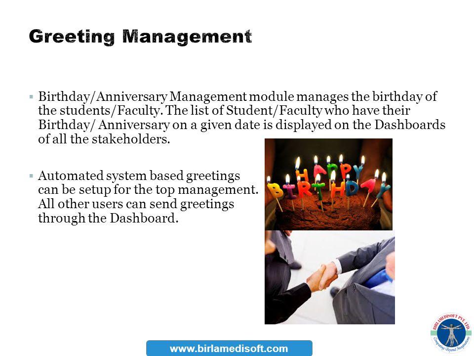Greeting Management