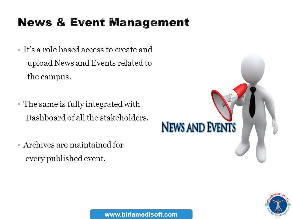 News & Event Management