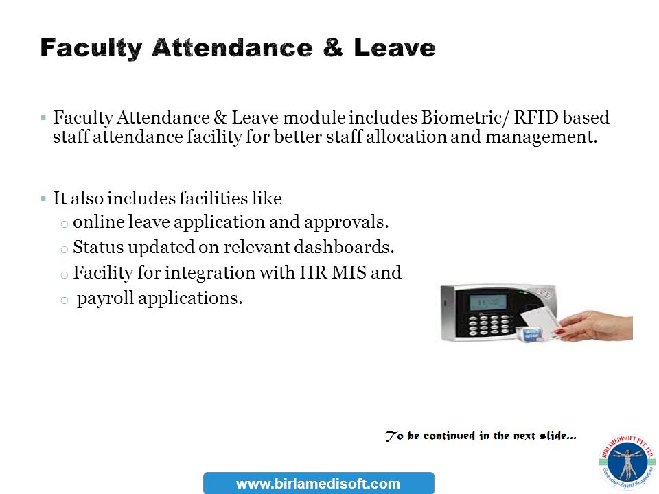 Faculty Attendance & Leave