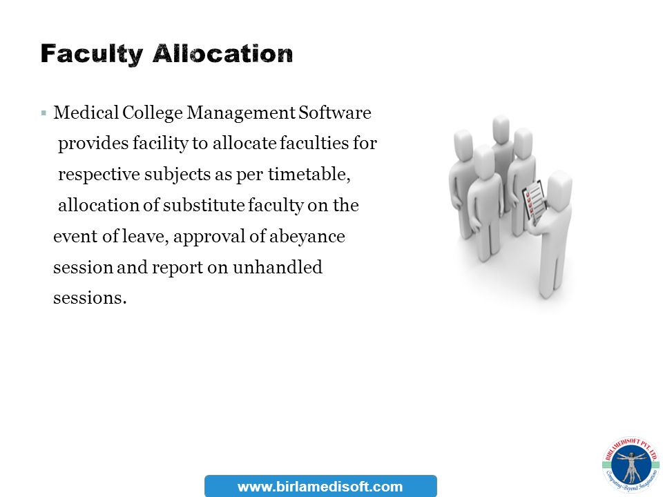 Faculty Allocation Medical College Management Software
