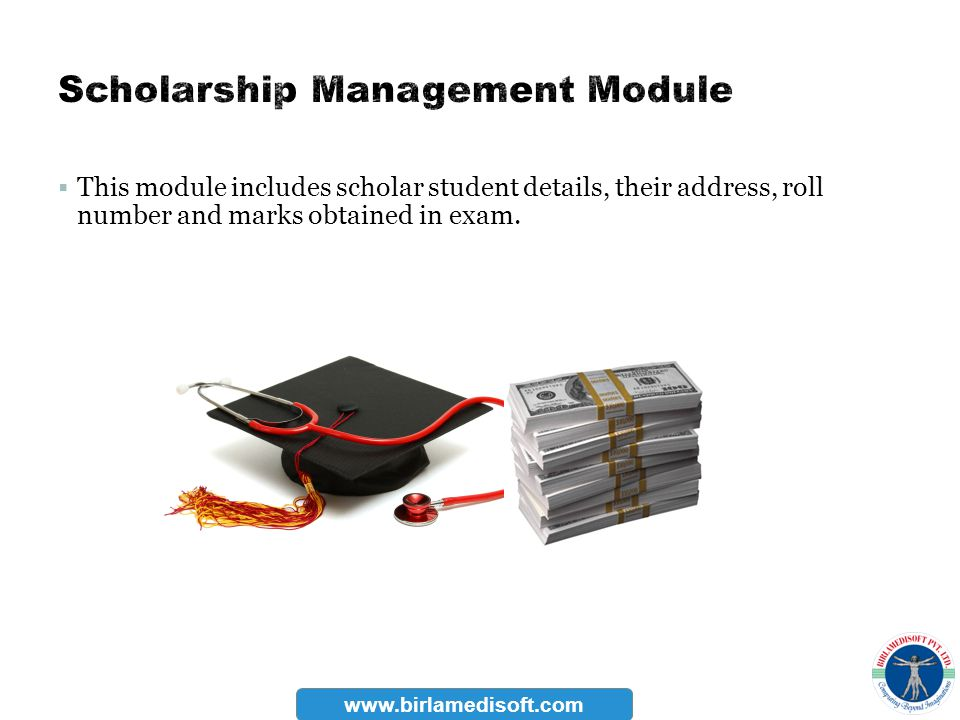 Scholarship Management Module