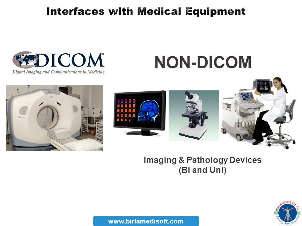 Interfaces with Medical Equipment Imaging & Pathology Devices