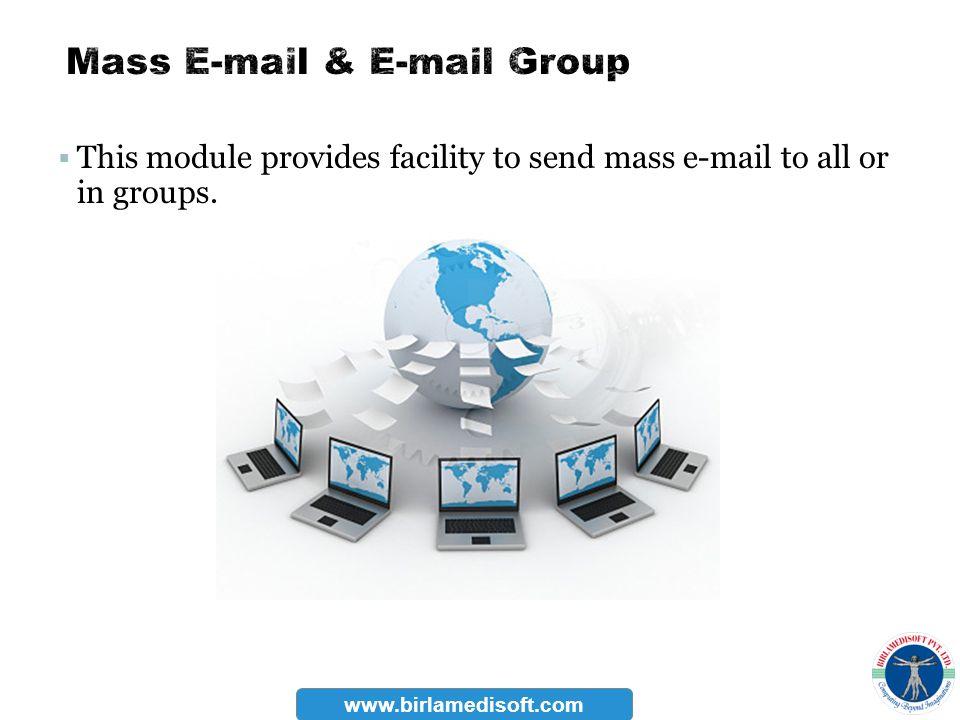 Mass E-mail & E-mail Group