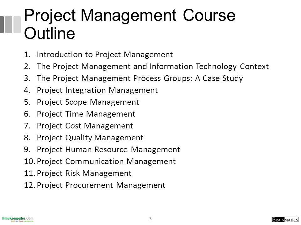 Project Management Course Outline