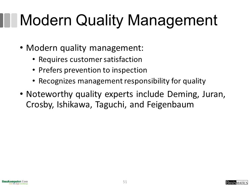 Modern Quality Management