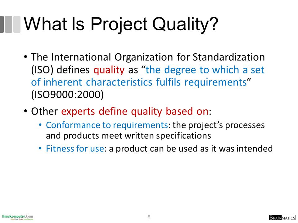 What Is Project Quality