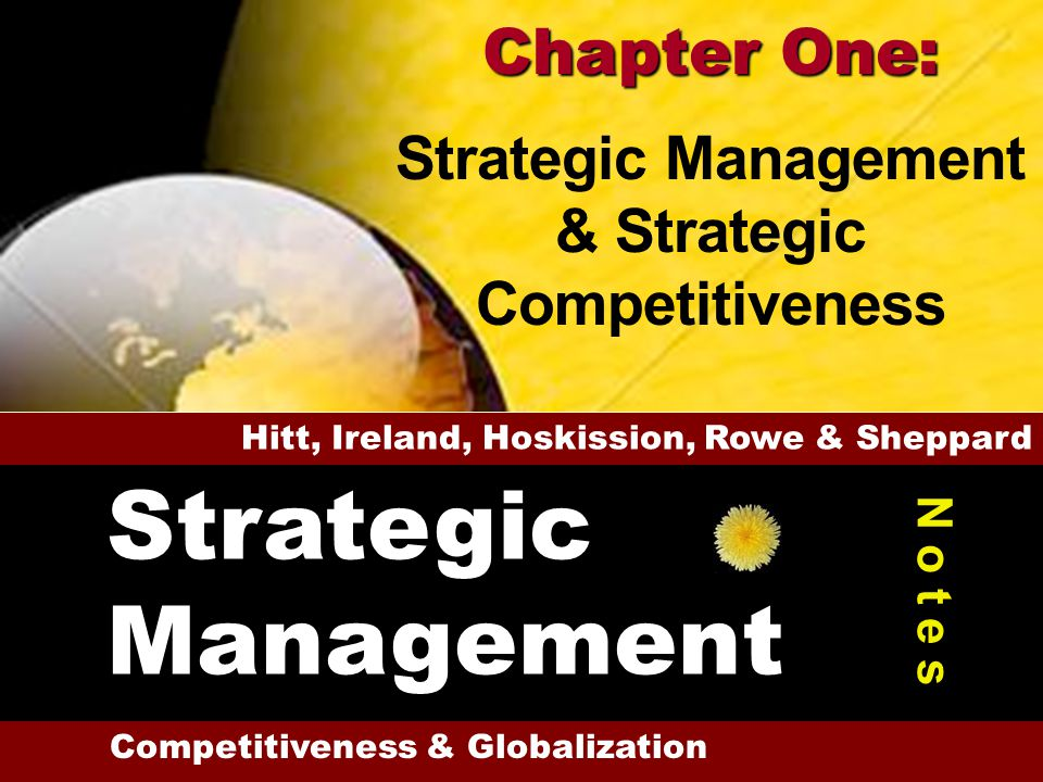 Strategic Management Chapter One: